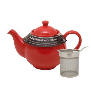 Price & Kensington Bright Red, 6 cup / 1200ml, Filter Teapot
