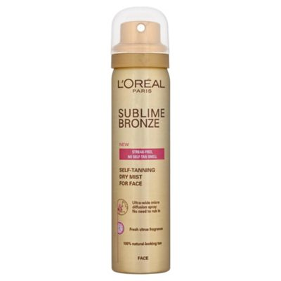 L'Oréal Sublime Self-Tan Facial Dry Mist 75ml
