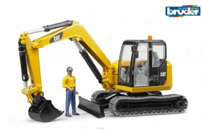 CAT Mini Excavator with Worker - 1:16 Scale