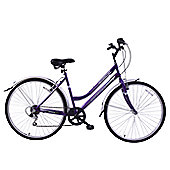 "Professional Metropolitan 700c Wheel Hybrid Bike 16"" Frame Purple"