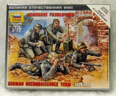 Zvezda - German Reconnaissance Team 1939 - 1942 - Scale 1:72 6153
