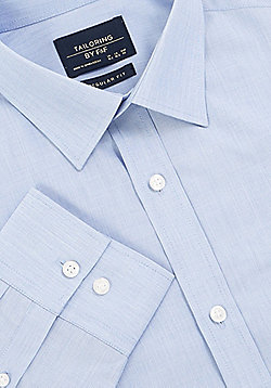 F&F Regular Fit Long Sleeve Shirt - Blue