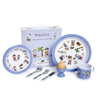 Children's Melamine Dinner Set- Pirates