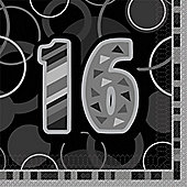 16th Luncheon Napkins - 2ply Paper - 16 Pack