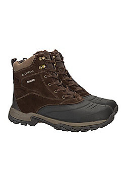 Mountain Warehouse Freeze Low Snow Boot IsoTherm with Microfiber Lining - Brown