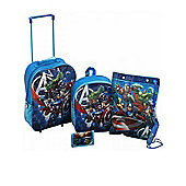 Marvel Avengers 5 Piece Luggage Set