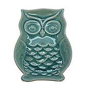 Green Ceramic Owl Dish