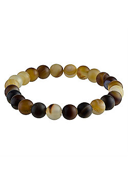 Urban Male Men's Seashore Agate Bead Bracelet 8mm