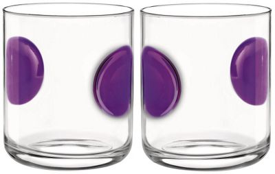 Bormioli Rocco Giove Water Tumbler Glasses - Set Of 2 - Purple - 310ml