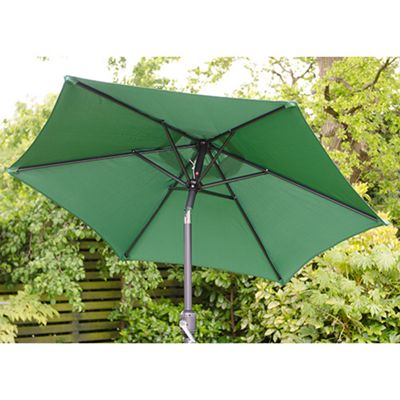 Cambridge 2m Crank And Tilt Garden Parasol Green