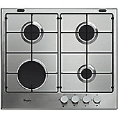 Whirlpool GMA6411IX 600mm Gas Hob, Stainless Steel