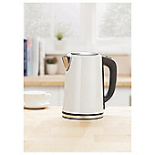 Tesco JKSSW16 White Stainless Steel Kettle New