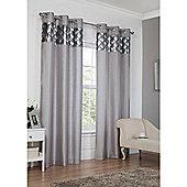 Hamilton McBride Astoria Eyelet Lined Curtains - Silver