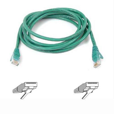 Belkin 15 m Cat5 RJ45 Snagless Patch Cable - Green