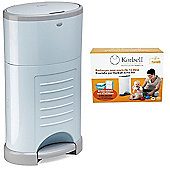 Korbell Nappy Disposal System Bundle - 16L Blue Bin and 16L Capacity Refill 3 Pack - 2 Items Supplied