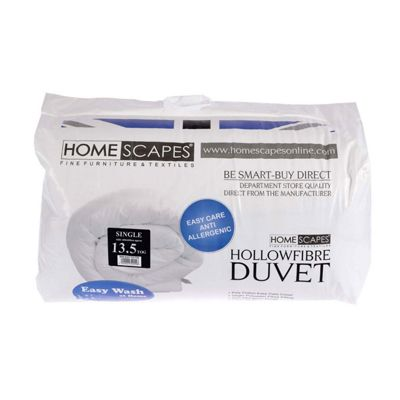 Homescapes 13.5 Tog Hollowfibre Single Winter Duvet