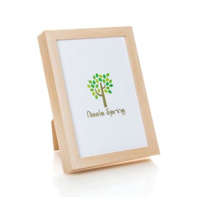 Nicola Spring Acrylic Box Photo Frame - Light Wood - 6 x 8