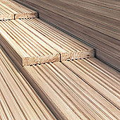 BillyOh 4.2 metre Pressure Treated Wooden Decking (120mm x 28mm) - 25 Boards - 105 Metres
