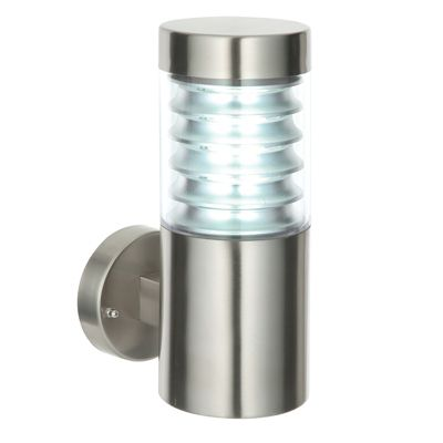 Equinox 1 Light 23W Wall Light Marine Grade Brushed Steel