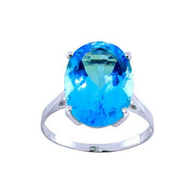 QP Jewellers 8.0ct Blue Topaz Valiant Ring in 14K White Gold - Size R