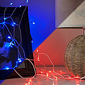 40 Red & Blue LED Colour Changing Battery Fairy Lights