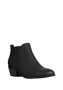 F&F Western Low Ankle Boots - Black