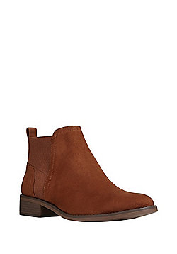 F&F Faux Suede Chelsea Boots - Tan