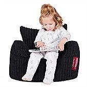 Lounge Pug® Toddlers Armchair Bean Bag - Cord Black