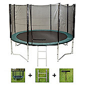 Up and About 12ft Air Pro Advanced Trampoline Package with Free Ladder, Weather Cover and Building Tool