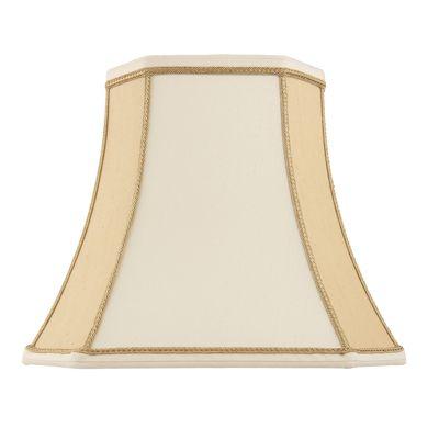 Camilla 10 Inch Lamp Shade Two-Tone Cream Faux Silk