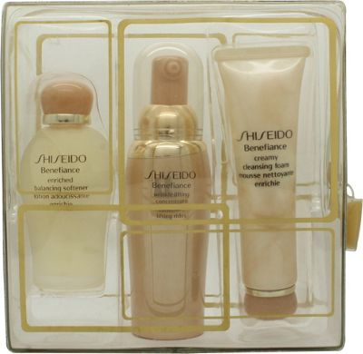 Shiseido Benefiance Gift Set 30ml Wrinkle Lifting Concentrate + 30ml Enrished Balancing Softener + 30ml reamy Cleansing Foam
