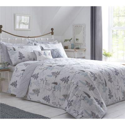 Dreams n Drapes Linden Fern Duck Egg Bedspread