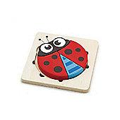 Viga Wooden Handy Block Puzzle - Ladybird