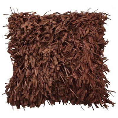 Shaggy Cushion - Chocolate
