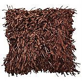 Shaggy Cushion - Chocolate