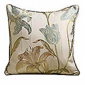 Homescapes Aqua Filled Cushion Floral Tapestry Design 43 x 43 cm