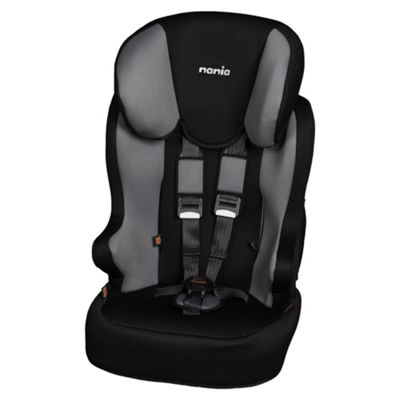 Nania Racer Car Seat, Group 1-2-3, Black/Grey