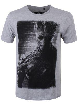 Marvel Comics Guardians of the Galaxy Groot Grey Men's T-shirt