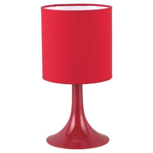 Tesco Lighting Pop Plastic Table Lamp Red
