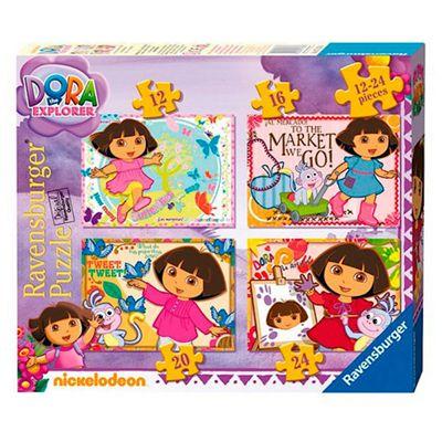 Dora the Explorer 4 in a Box Puzzles