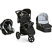 Hauck Viper SLX Trio Set with Mosquito Net Travel System - Caviar/Grey