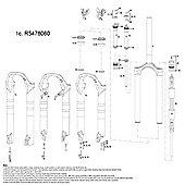 """RockShox Lower Leg Tora TK 2011 29"""" 9mm QR Disc Black (no decals)"""