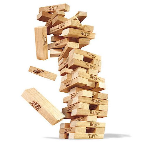 Hasbro Jenga Wooden Tower-Building Game