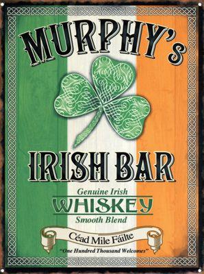 Genuine Irish Whiskey Murphy's Irish Bar Tin Sign