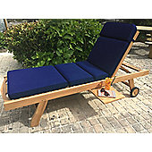 Sun Lounger Garden Cushion - Blue
