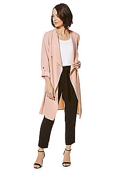 F&F Waterfall Long Line Jacket - Blush