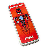 Power Rangers Movie Personalised Red Ranger Pencil Tin