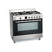 Montpellier MR90GOX 90cm Gas Range Cooker in Stainless Steel