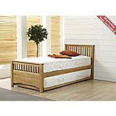 Airsprung Oakrest Guest Bed Frame with Under Bed - Oak - Single 3ft