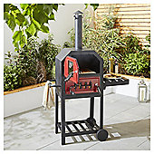 Tesco Charcoal Multifunction Pizza Oven with Side Shelf